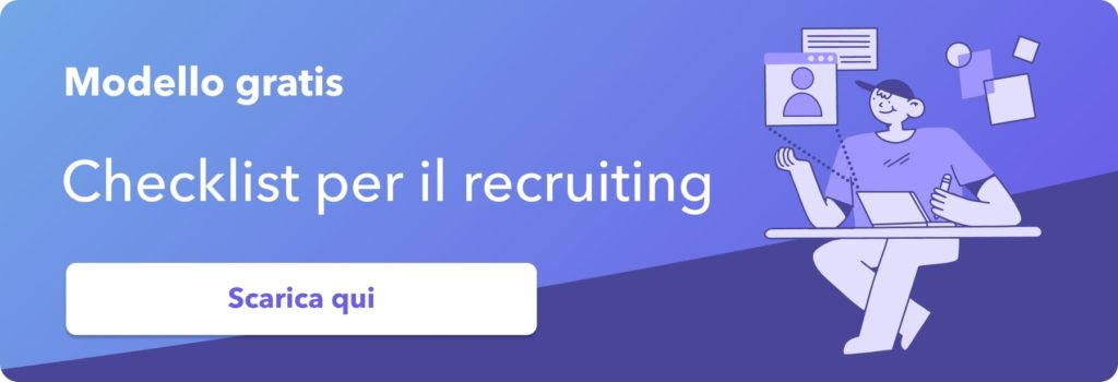 modello gratis checklist recruiting